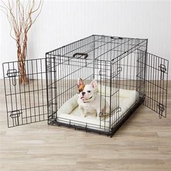 """Medium 25""""L Dog Crate, Puppy Crate, Two Doors, With a Black Tray , Not Included Blanket for Sale in Chino,  CA"""