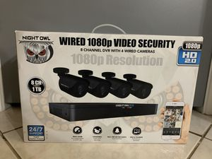 Night Owl 1080P HD Wired Security System WM-841-2MP -1TB for Sale in Chandler, AZ