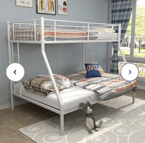 Metal Bunk Beds With Queen At The Bottom for Sale in Philadelphia, PA
