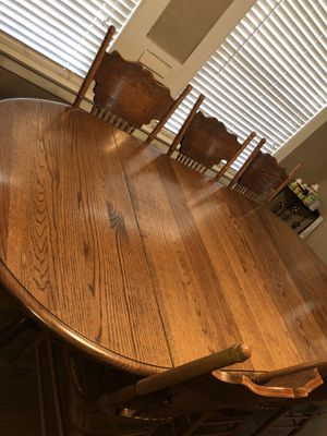 Solid Oak table for Sale in Fresno, CA