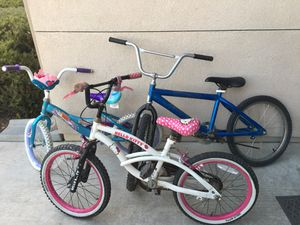 3 bikes for $35 for Sale in Madera, CA