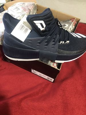 Adidas Dame 3 Men's Basketball Shoes Collegiate Navy-White BY3190 Portland Trail Blazers size 10.5 for Sale in Milwaukie, OR