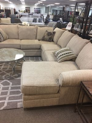 (Brand New In Boxes) Tan Woven Fabric Serta Sectional Sofa for Sale in Atlanta, GA