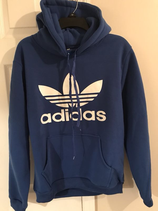 Adidas hoodie size large and medium. I have black too.