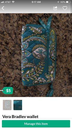 Vera Bradley wallet like new for Sale in Suffolk, VA