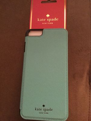 Brand you in box, Kate Spade folio's IPhone 6 Plus, 7 plus cell phone case- Paid $90; selling for $50 for Sale in Paradise Valley, AZ