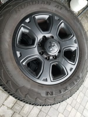"""Dodge Ram 2500 20""""wheels rims and tires night edition for Sale in Miramar, FL"""