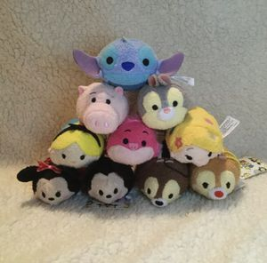 Lot of 10 Disney TSUM TSUM Plush Characters Mickey Mouse Minnie Stitch Alice for Sale in Goodlettsville, TN
