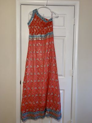 One shoulder Party Dress/Traditional. Pink blue silver for Sale in Alexandria, VA