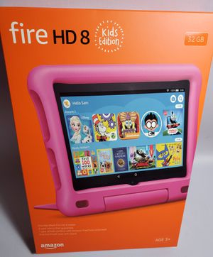 Amazon Fire HD 8 Kids edition tablet Pink. Latest Model with Kids Proof case for Sale in Miami, FL