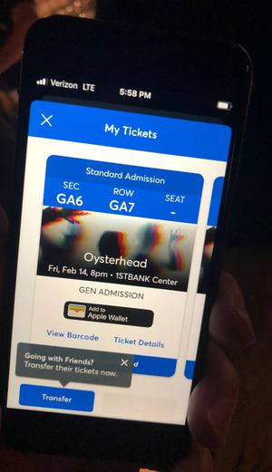 2 tickets for Oysterhead TONIGHT $50 each for Sale in Denver, CO