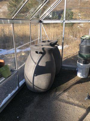 Rain barrels, terra-cotta pots, plastic pots, shelving... for Sale in Golden, CO