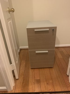 Metal filing cabinet with two drawers in good condition. for Sale in Manassas, VA