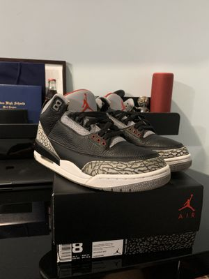 Jordan Black Cement 3s 2018 for Sale in Northlake, IL