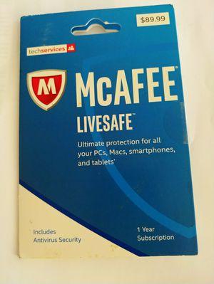 McAfee Antivirus 1 year subscription for Sale in Aiea, HI