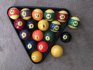 Pool balls Billiard Ball solid ball set and rack plus extra 8 and 14 for Sale in McDonald, PA