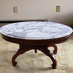 Victorian Antique Marble Top Coffee Table for Sale in Charles Town, WV