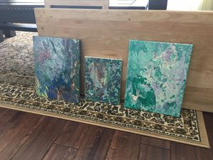 Art work on canvas (all 3) for $15 for Sale in Lancaster, OH