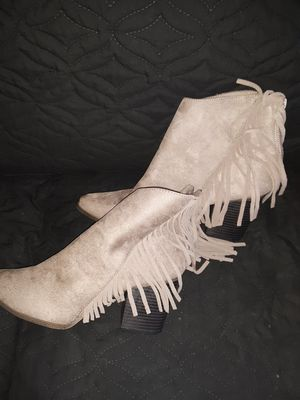 Ladies Suede Fringed heel boot for Sale in Washington, DC