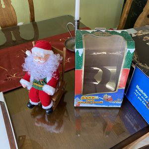 Rocking Chair Santa Claus Battery Operated for Sale in Hollywood, FL