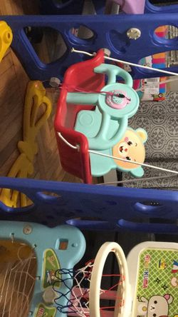 Childrens Swing Slide And Basketball Hoop for Sale in Providence,  RI