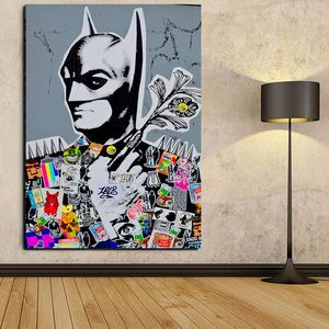 """Graffiti Street Art Canvas Paintings Wall Art Batman Pop Art Prints Posters Modern Home Decorations Kids Room Wall Decor Framed Ready To Hang 24""""x36"""" for Sale in Queens, NY"""