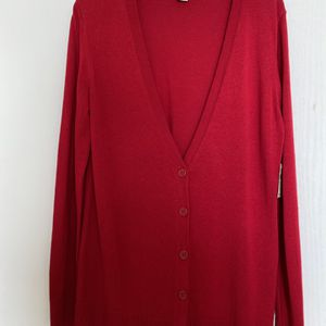 Coldwater Creek Brand Cardigan, Size XS, Red, 70% Silk, 30% Coton, New With Tags for Sale in Vancouver, WA