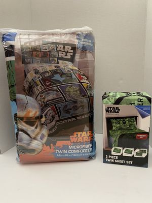 Star Wars Comforter/Sheet Combo Set NEW! Twin for Sale in Corona, CA