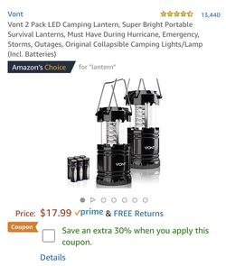 Vont LED Camping Lanterns for Sale in Belton,  TX