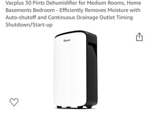 Vacplus 30 quart dehumidifier for Sale in Bakersfield, CA