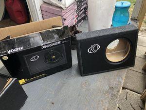 Kicker subwoofer box for Sale in Kensington, MD