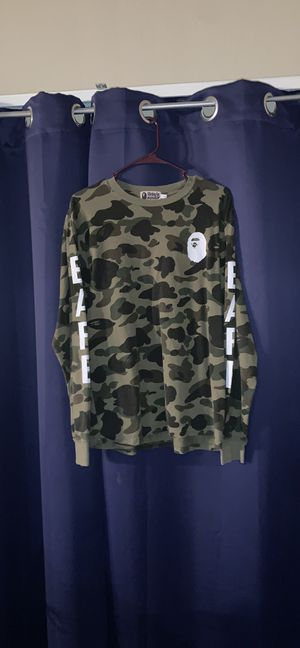 authentic BAPE Bathing Ape rare camo shirt for Sale in Las Vegas, NV