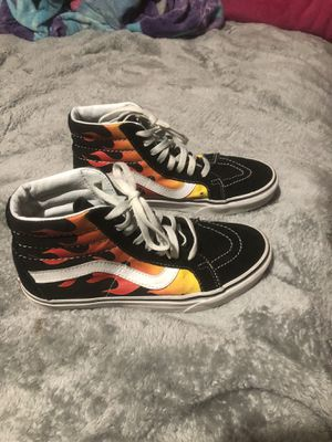 Flame Hightop Vans for Sale in Baytown, TX
