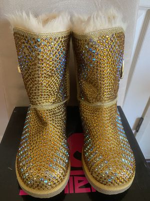 Shiekh gold boots for Sale in South Gate, CA