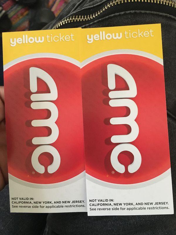 2 movie tickets to any movie