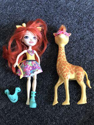 Enchantimals Gillian giraffe doll with giraffe for Sale in Hialeah, FL