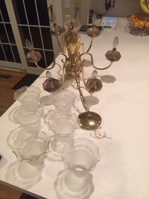 Brass 6-light Chandelier for Sale in Olney, MD