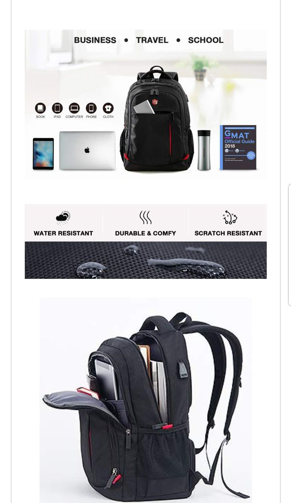 Laptop Backpack, Travel Waterproof Computer Bag for Women Men NEW High Quality