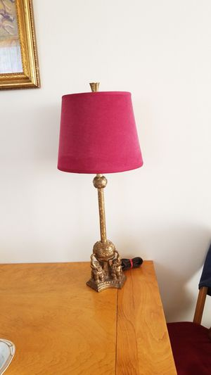 Elephant Lamp and Velvet Lamp shade for Sale in Seattle, WA