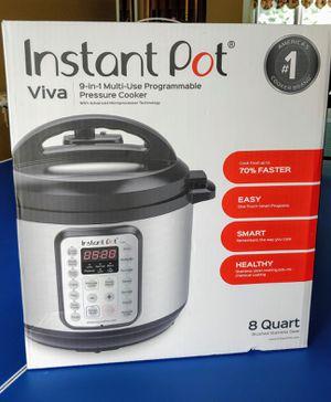 Instant pot Viva 8 Quart 9 in 1 Multi use programmable pressure cooker for Sale in Freehold, NJ