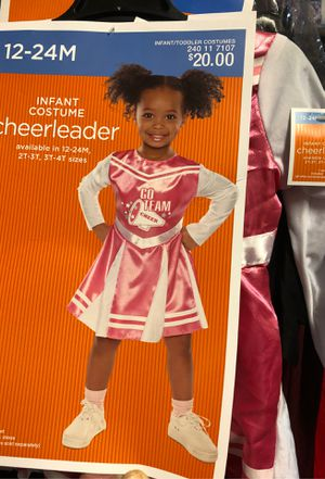 Infant 12 18 24 Months Pink White Long Sleeve CHEERLEADER Dress Halloween Costume for Sale in Silverdale, WA