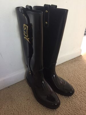 Coach rain boots size 7 for Sale in SUNNY ISL BCH, FL