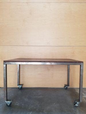 California Redwood Table | Computer Desk | Metal frame (indv or set) for Sale in Playa del Rey, CA