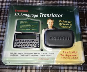 Franklin 12-Language Translator TG-450 w/ Carrying Case-New for Sale in Santa Ana, CA
