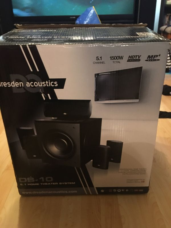 New!! In box Desden acoustics Ds10 1500 watt home theater system