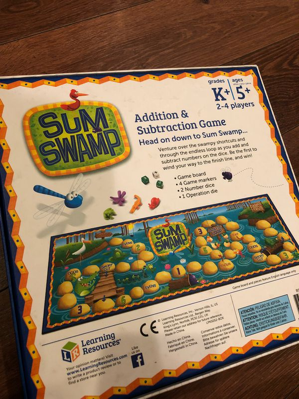 New sum swamp game by learning resources - preschool - 2 to 4 players