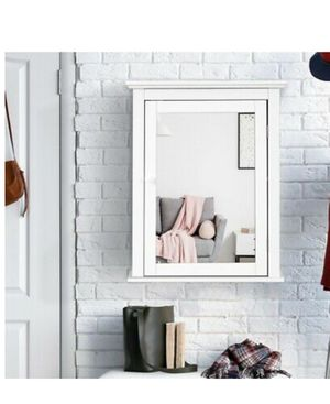 Bathroom Mirror cabinet wall mount adjustable shelf medicine storage in the Box for Sale in San Bernardino, CA