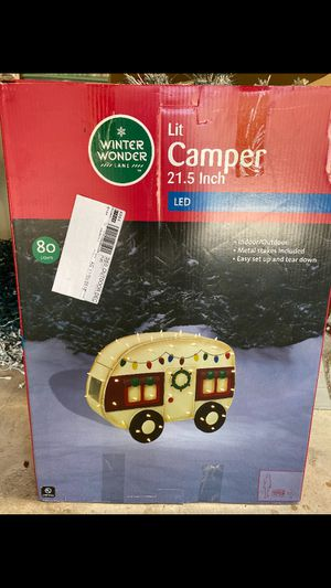 Lit camper Christmas decoration for Sale in Tamarac, FL