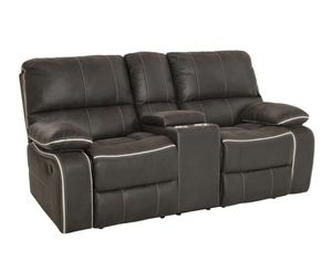 Brand New Charcoal Reclining Loveseat w/ a console for Sale in La Vergne, TN