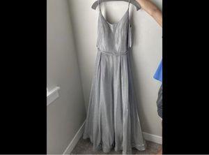 Silver Prom Dress for Sale in Saratoga Springs, UT